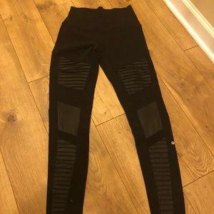 Alo yoga high waist Moto leggings black small S